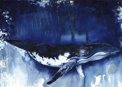 Mixed Media - Humpback Whale by Anthony Burks Sr