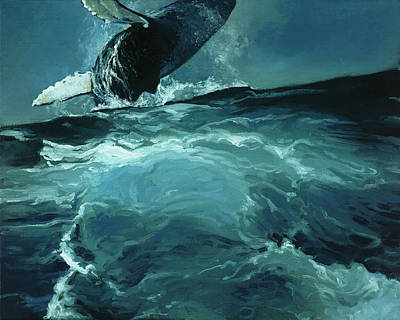 Humpback Whale Iv Art Print by Heather Theurer