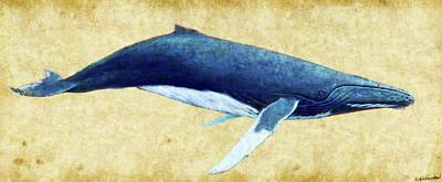 Photograph - Humpback Whale Painting by Weston Westmoreland