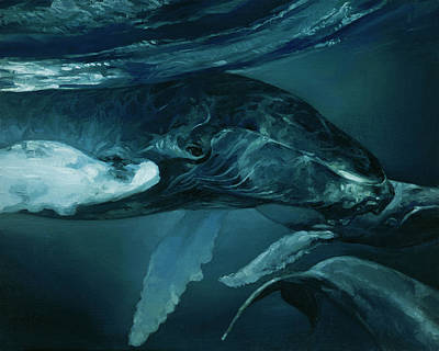 Humpback Whale V Art Print by Heather Theurer