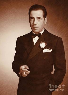 Musician Royalty-Free and Rights-Managed Images - Humphrey Bogart, Actor by John Springfield