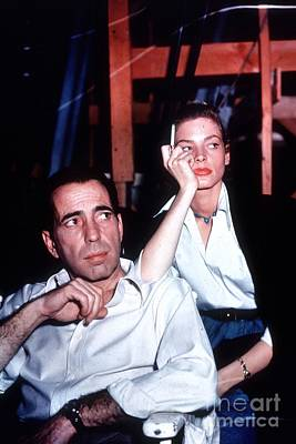 Humphrey Bogart Photograph - Humphrey Bogart And Lauren Bacall by The Titanic Project