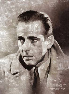Bogart Painting - Humphrey Bogart By Mary Bassett by Mary Bassett