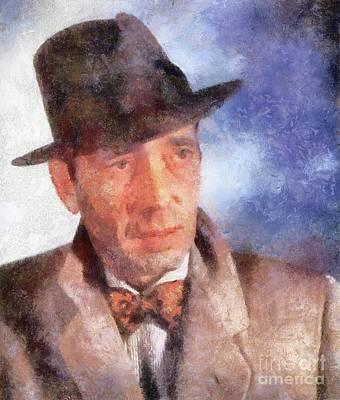 Bogart Painting - Humphrey Bogart By Sarah Kirk by Sarah Kirk