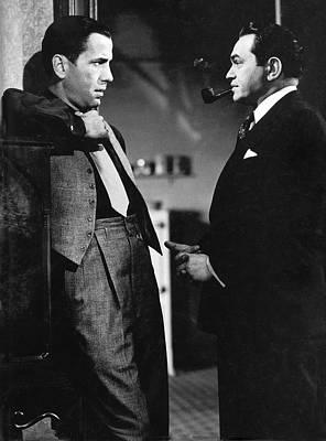 Edward G. Robinson Wall Art - Photograph - Humphrey Bogart Edward G. Robinson The Amazing Dr. Clitterhouse 1938 by David Lee Guss