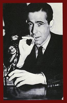 Maltese Falcon Photograph - Humphrey Bogart Holding Falcon #2 The Maltese Falcon 1941 by David Lee Guss