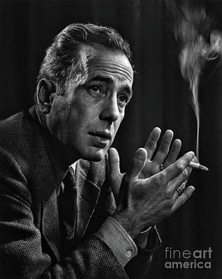 Photograph - Humphrey Bogart - In Tribute To Yousuf Karsh by Doc Braham  - In Tribute to Yousuf Karsh
