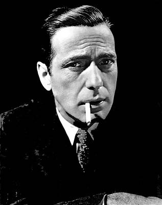 Maltese Falcon Photograph - Humphrey Bogart Portrait For The Maltese Falcon 1941-2014. by David Lee Guss