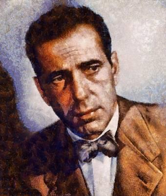 Actors Paintings - Humphrey Bogart Vintage Hollywood Actor by John Springfield
