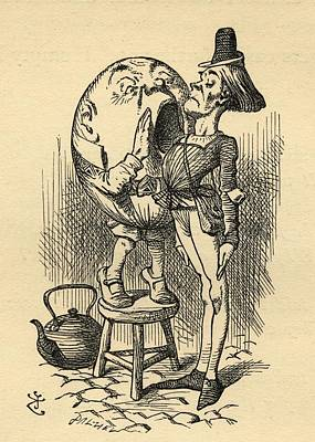 Messenger Drawing - Humpty Dumpty And The Messenger by Vintage Design Pics