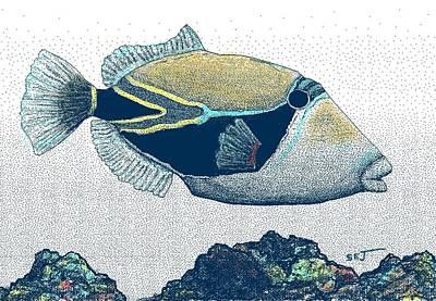 Humuhumu Digital Art - Humuhumu Colored by Stephen Jorgensen