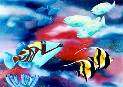 Humuhumu Painting - Humuhumunukunukuapuaa Hawaii State Fish #42 by Donald k Hall