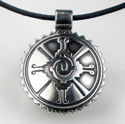Jewelry - Hunab Ku Mayan Sterling Silver Pendant by Vagabond Folk Art - Virginia Vivier