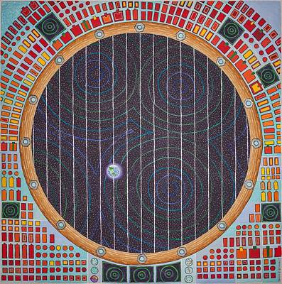 Painting - Hundertwasser Shuttle Window by Jesse Jackson Brown