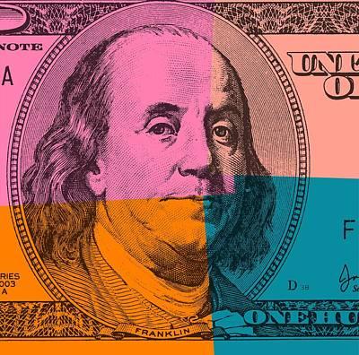 Hundred Dollar Bill Pop Art Print by Dan Sproul