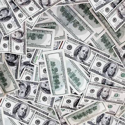 Photograph - Hundred Dollar Bills by Gravityx9 Designs