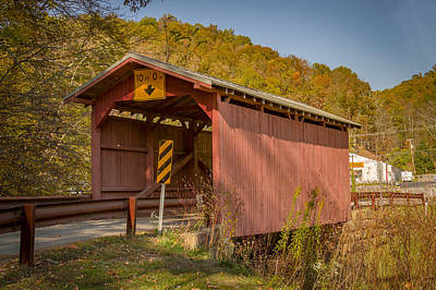 Photograph - Hundred Or Fish Creek Covered Bridge by Jack R Perry