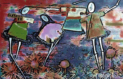 Digital Art - Hung Out To Dry by Delight Worthyn