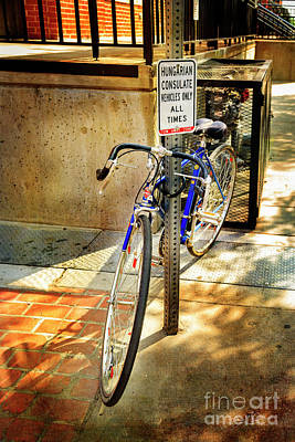 Photograph - Hungarian Conculate Bicycle by Craig J Satterlee
