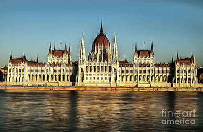 Hungarian National Parliament Art Print