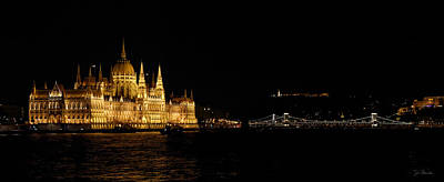 Photograph - Hungarian Parliament And Chain Bridge by Joe Bonita