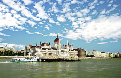 Photograph - Hungarian Parliament Building by Anthony Dezenzio