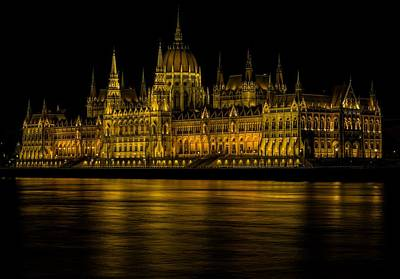 Building Digital Art - Hungarian Parliament Building by Super Lovely