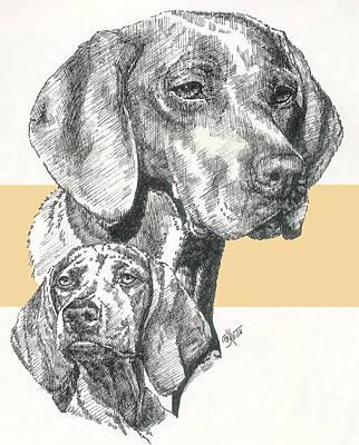 Hungarian Vizsla And Pup Art Print
