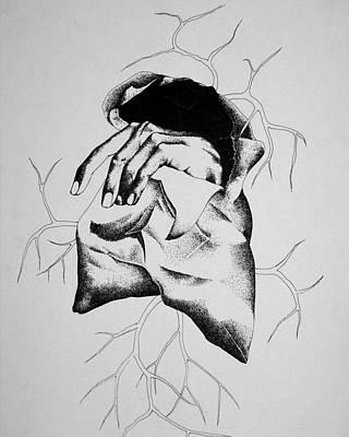 Hunger Art Print by Omphemetse Olesitse