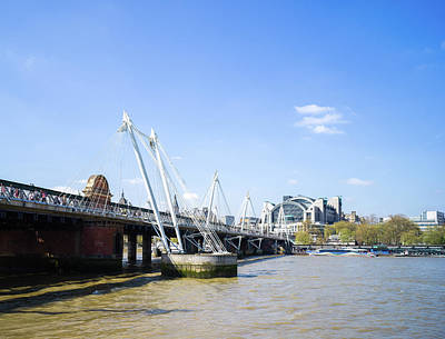 Photograph - Hungerford Bridge And Golden Jubilee Bridges by Stewart Marsden