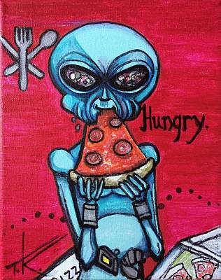 Painting - Hungry Alien. by Similar Alien