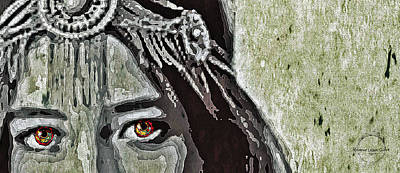 Digital Art - Hungry Eyes by Absinthe Art By Michelle LeAnn Scott