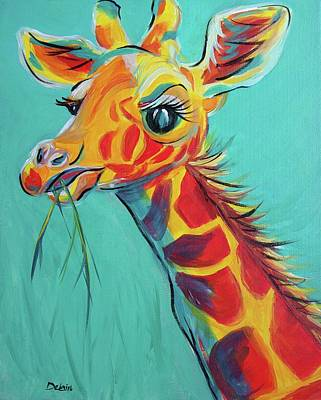 Painting - Hungry Giraffe by Susan DeLain