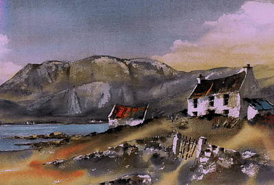 Painting - Hungry Hill Ardigole West Cork by Val Byrne