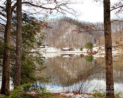 Photograph - Hungry Mother State Park - A View Through The Trees by Kerri Farley