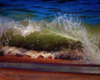 Photograph - Hungry Wave Of Fenwick Island by Bill Swartwout