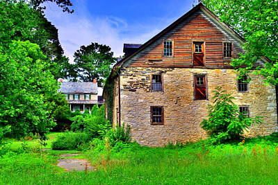 Photograph - Hunsecker's Mill And Farmhouse by Lisa Wooten