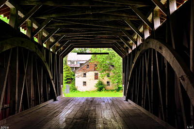 Photograph - Hunsecker's Mill Covered Bridge by Lisa Wooten
