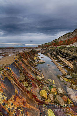 Photograph - Hunstanton Shipwreck by Steev Stamford