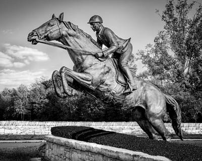 Photograph - Hunt Club Black And White by Paula Ponath