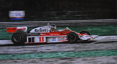 Formula One Drawing - Hunt - Mclaren M23 - 1976 Wc by Aron Castelli