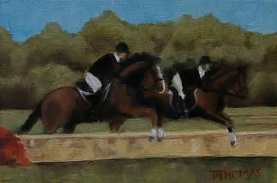 Hunt Scene Art Print by Donna Thomas