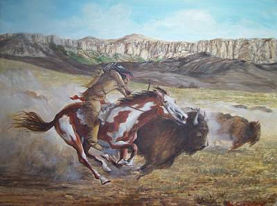 Painting - Hunt by Perrys Fine Art