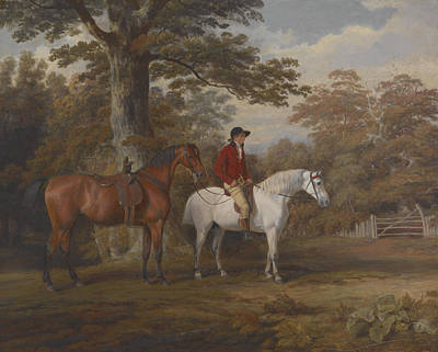 Fox Hunting Painting - Hunter And Huntsman by George Gerrard
