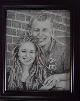 Drawing - Hunter And Olivia by Emily Maynard