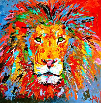 Vivid Colour Painting - Hunter by Angie Wright