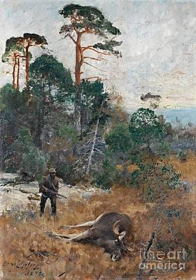 Bruno Painting - Hunter At Dawn by Celestial Images
