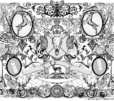Carcass Drawing - Hunter By Benjamin Sawin by Ben Sawin
