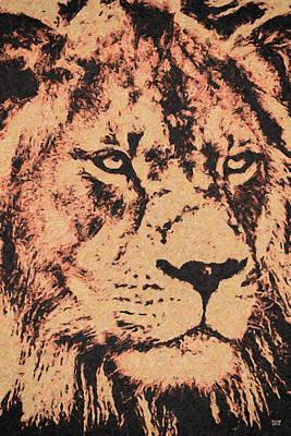 Lion Painting - Hunter by David Millenheft