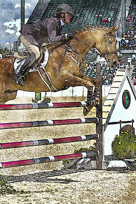 Hunter Jumper Equestrian Art Print by Carrie Cranwill